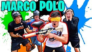 Blindfolded Paintball Marco Polo!!