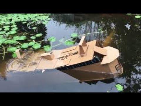 Cardboard cruise ship sinks