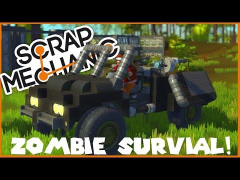 BUILDING A ZOMBIE SURVIVAL BASE! - Scrap Mechanic - Ep 2