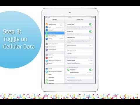 iPad Air: Turn on/off data services