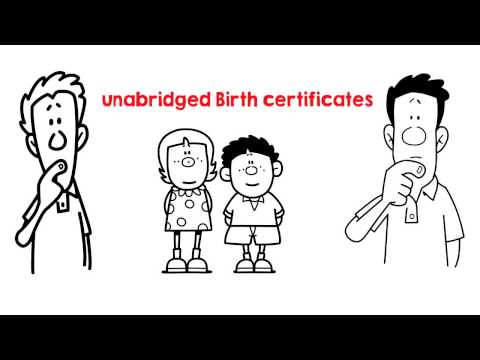 Unabridged Birth certificates