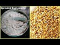 Homemade sprouted ragi powder for babies and adults