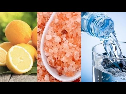 Make Your Own Alkaline Water with Lemon, Himalayan Salt and Purified Water