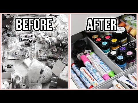 Decluttering & Organizing My Arts & Crafts Supplies the Konmari Way   Moving Into My New Apartment