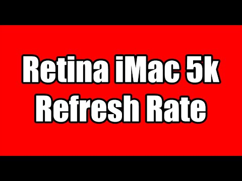 What is the new iMac 27inch 5k refresh rate?