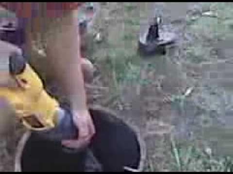 Laurel PW - Cutting Lock Off Water Meter