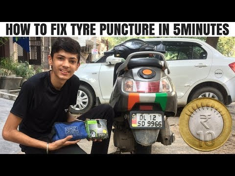 HOW TO FIX TYRE PUNCTURE IN 5 MINUTES