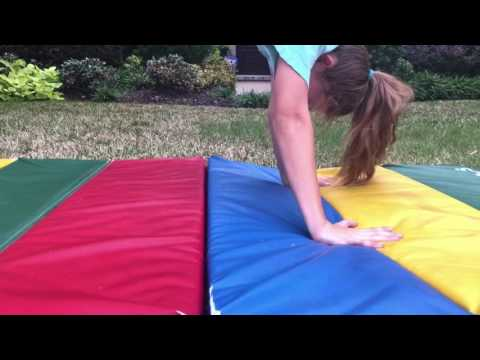 How to keep your legs together in a back handspring