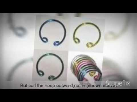 How To Make Fake Piercings (Hoops)