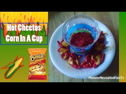 Hot Cheetos Corn In A Cup!! (Elote de Vaso)