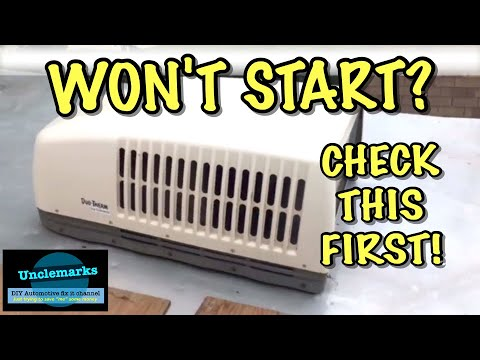 How to change a capacitor in rv air conditioner fan no run