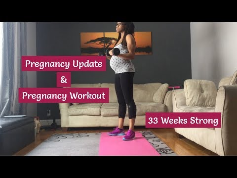 Pregnancy Workout and Update: 33 Weeks Pregnant   LouLivesLifts