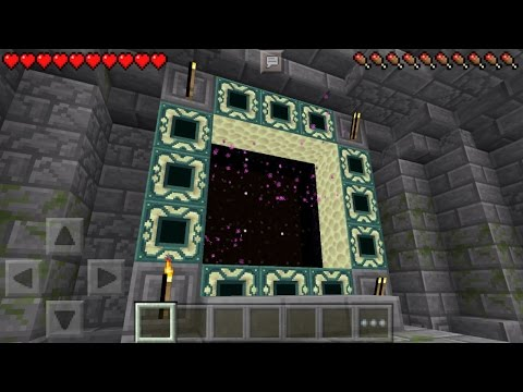 ✔ Working End Portal in MCPE! The End Stronghold Map [Minecraft PE 0.15.0 - 0.16.0]