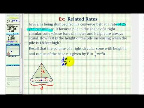 Ex: Related Rates - Right Circular Cone