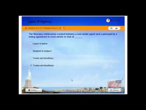 Real Estate License - Practice Exam #1 - Laws of Agency - Free Test - USA -130 Questions