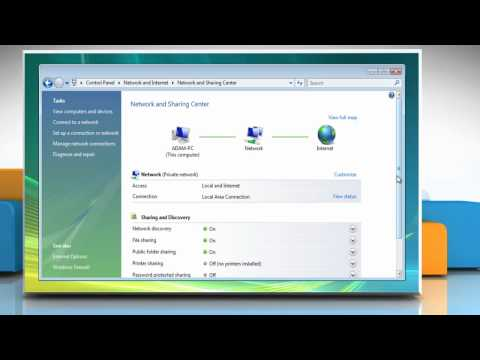 Windows® Vista: How to disable password protected sharing options