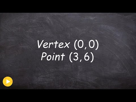 Write the equation of a parabola given vertex, axis of symmetry & point it passes through