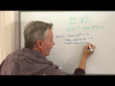 New topic for GCSE maths - Composite functions f(x) = 2x - 2 question
