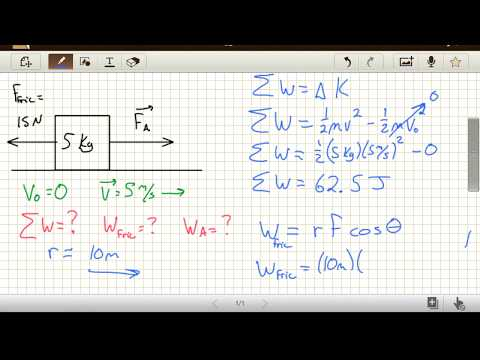 Physics Work Problems - How to Calculate Work with a Known Change in Speed