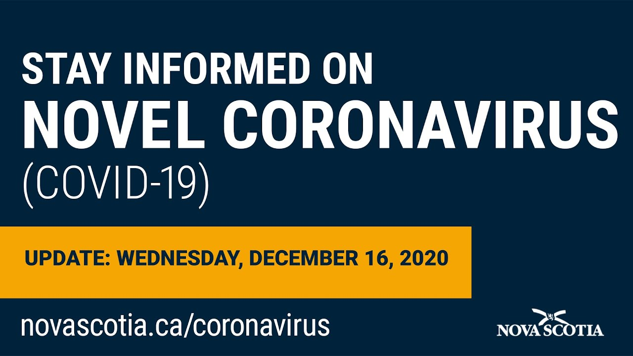Update COVID-19 for Nova Scotians: Wednesday, December 16