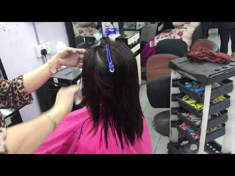 U shape natural look with step cut
