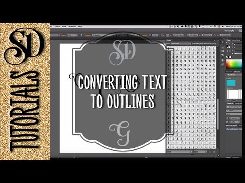 Converting text to outlines (curves, vector objects) with Adobe Illustrator