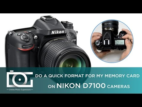 TUTORIAL | How to Format my Memory Card - Reformat SD Card for my Nikon D7100