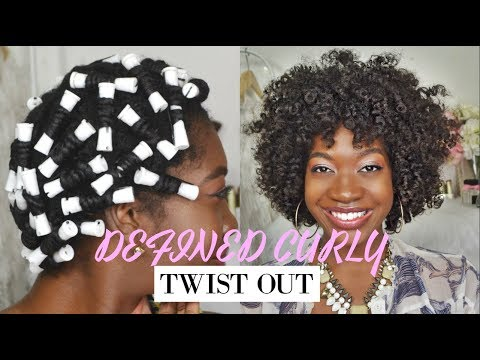 MOISTURIZED BIG DEFINED CURLS + TWIST OUT ON NATURAL 4B HAIR | SPRINGY BOUNCY CURLS +