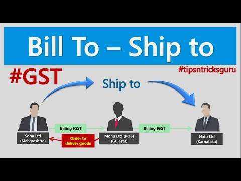 Bill to Ship to Under GST in Hindi By CA Mohit Goyal, Delhi