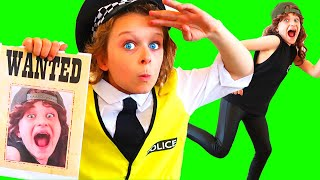 WANTED BAD BOB DAILY ROUTINE HOME with Biggy the Policeman Pretend Play w/ The Norris Nuts