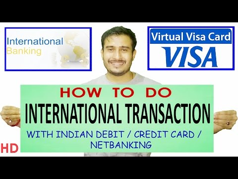 How to create virtual debit card |  Online international transaction |  Entropay | Credit Card India