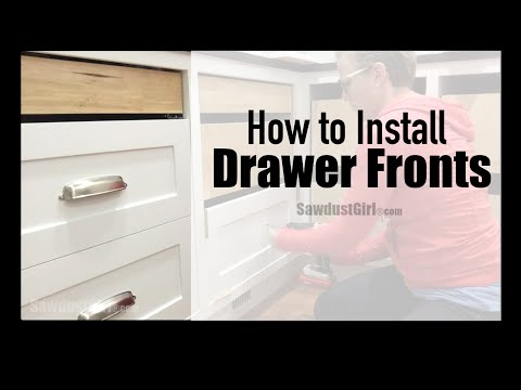 How to Easily Install Cabinet Drawer Fronts
