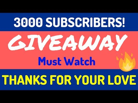 Give Away | Thanks for 3000 Subscriber's love! [Hindi]