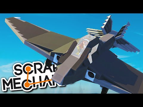 Scrap Mechanic CREATIONS - PLANES, FIGHTER JETS and VTOL Aircrafts