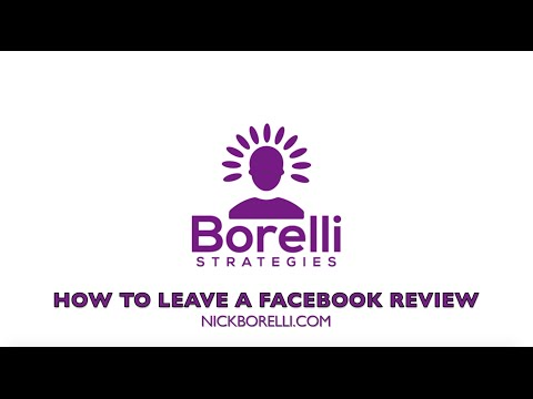 How To Leave A Facebook Review For A Business Page