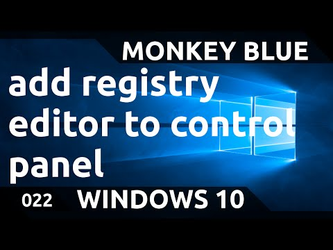 Windows 10: how to add the registry editor to control panel