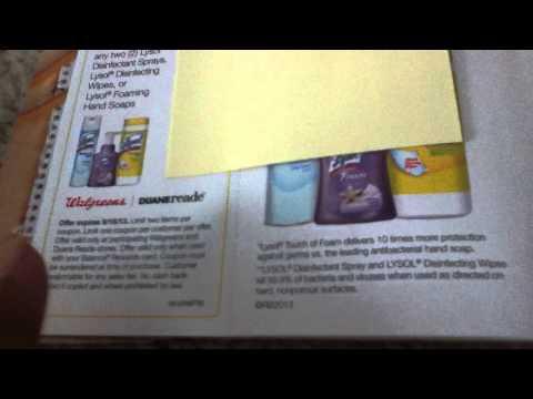 Walgreens balance reward coupon booklet