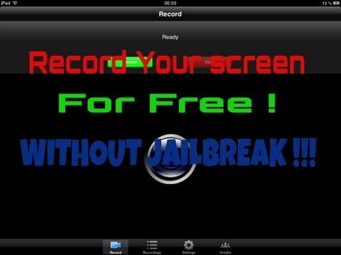 How to record your Iphone/Ipad Screen ! WITHOUT JAILBREAK AND FOR FREE (without pc)