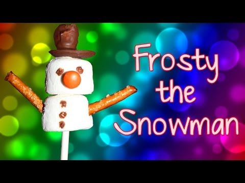 Frosty The Snowman Marshmallow Pop