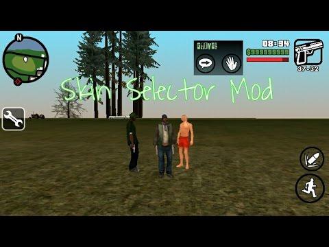 How to install Skin Selector mod on GTA SA  mobile