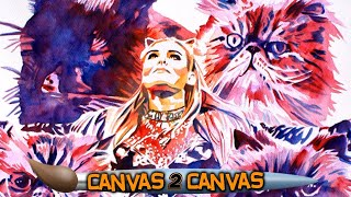 Natalya (and her cats) takeover the canvas!: WWE Canvas 2 Canvas