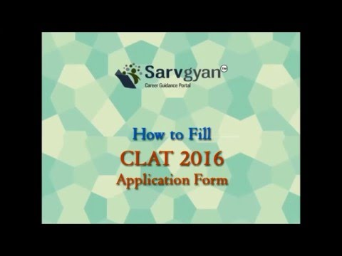 CLAT 2016 Application Form | How to Fill Guide