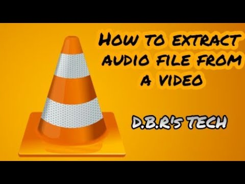 How to extract audio from video using VLC media player