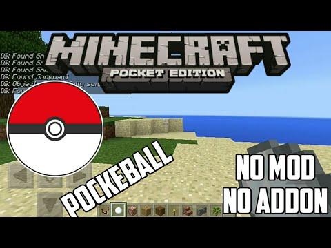 Cara membuat pokéball di minecraft pe no mod no addon