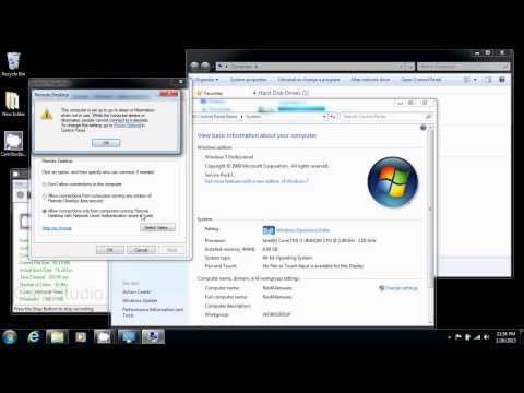 How to Enable Remote Desktop in Windows 7