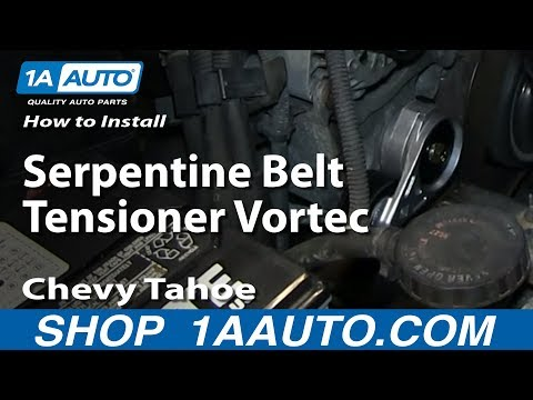 How To Install Replace Serpentine Belt Tensioner Vortec 5.7L Chevy Tahoe GMC Yukon Suburban