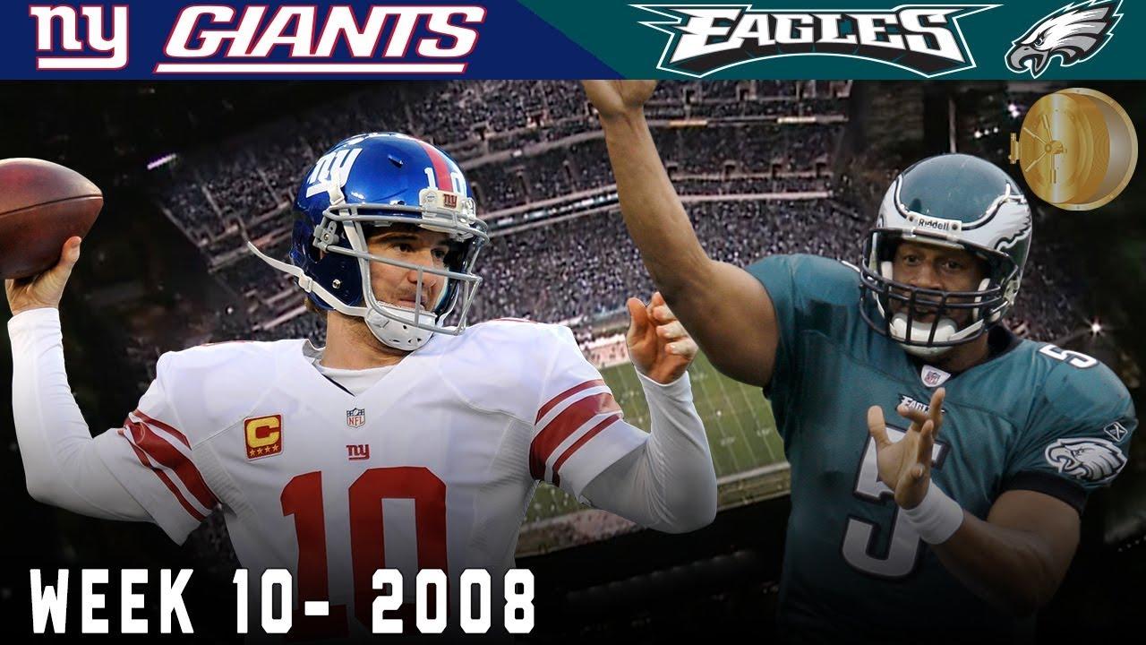 A Sunday Night NFC East Showdown! (Giants vs. Eagles, 2008) | NFL Vault Highlights