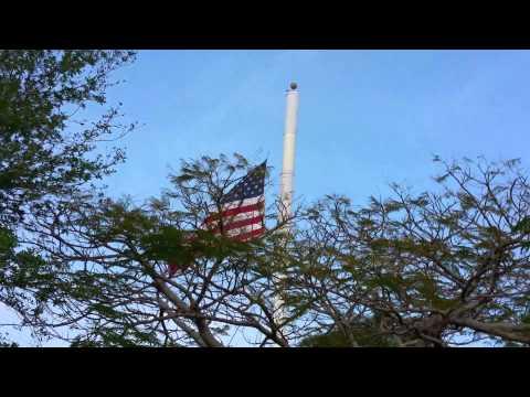 Flag at half mast for three weeks -  Post Office.