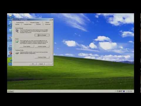 Assign a com port on Windows XP