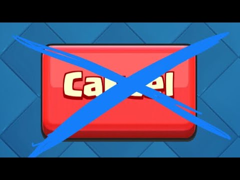 Proving the 'Cancel' button in Clash Royale DOESN'T work.